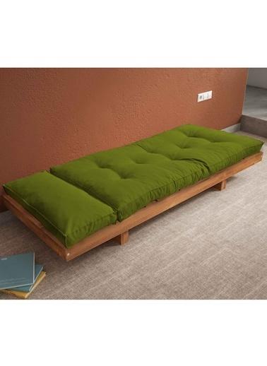 Woodesk Arin Masif Tik-Yeşil Renk Sedir Yeşil